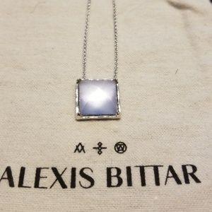 Alexis Bittar lucite pyramid pendant